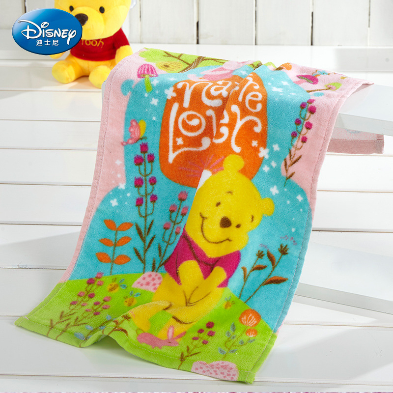 Disney 50*26 Cm Cartoon Animation Towels Authorized Products Series Loves Natural Childrens Towels New Fashion Cartoon Towels