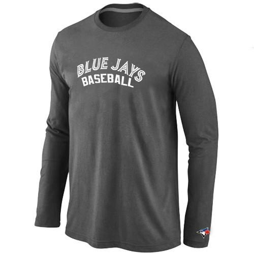 Toronto Blue Jays Long Sleeve T-Shirt D.Grey