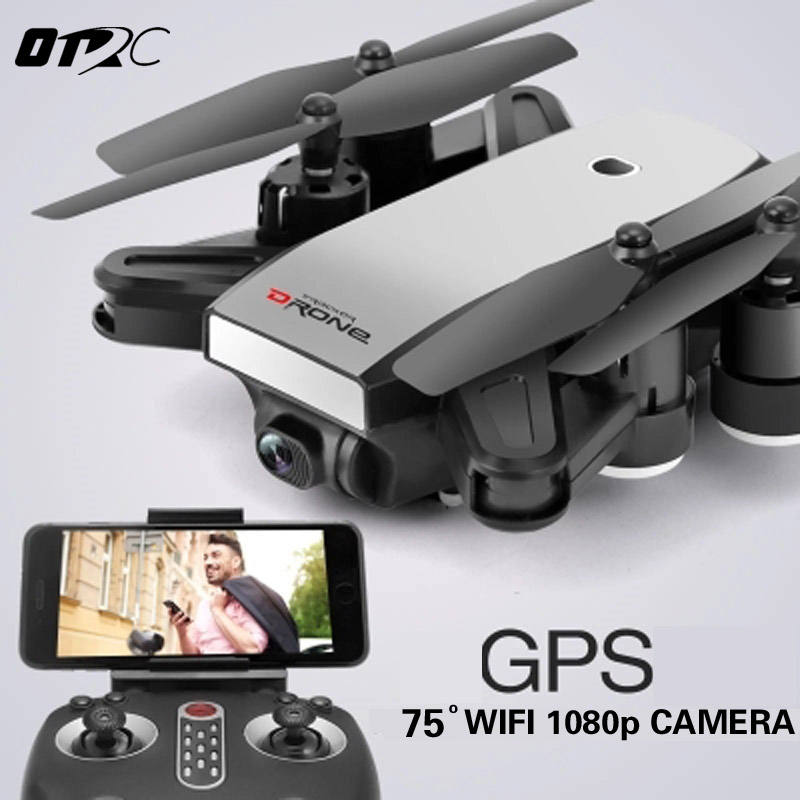 OTRC RC Dron LH-X28W Mini Foldable Selfie Drone with Wifi FPV 0.3MP or 2MP Camera GPS Altitude Hold Quadcopter VS X16 X4 XS809 jjrc h49 sol ultrathin wifi fpv drone beauty mode 2mp camera auto foldable arm altitude hold rc quadcopter vs e50 e56 e57