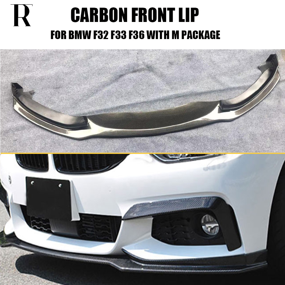 Carbon Fiber BMW F32 F33 F36 M Tech M Sport Front Bumper Lip Spoiler 430i