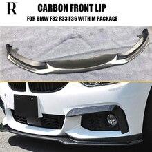 цена на Carbon Fiber Front Bumper Lip Spoiler for BMW F32 F33 F36 420i 428d 435d 420d 428d 435d M-tech M-Sport Bumper CC Styling
