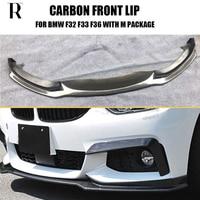 Carbon Fiber Front Bumper Lip Spoiler for BMW F32 F33 F36 420i 428d 435d 420d 428d 435d M tech M Sport Bumper CC Styling