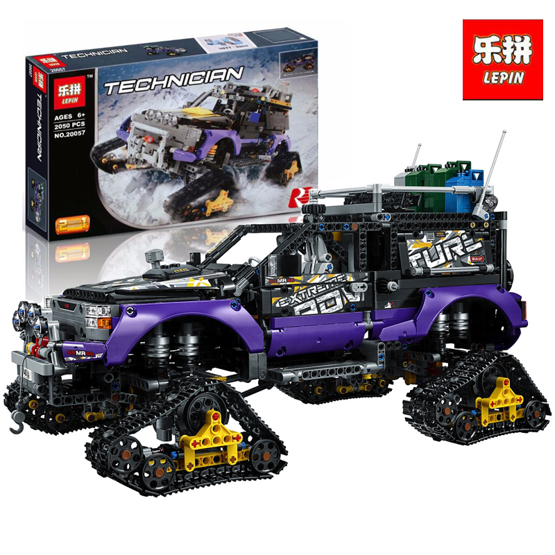 Lepin 20057 2050Pcs Genuine Technic Mechanical Series Ultimate Extreme Adventure Car Set Building Blocks Bricks LegoINGlys 42069 2050pcs 2in1 techinic extreme adventure
