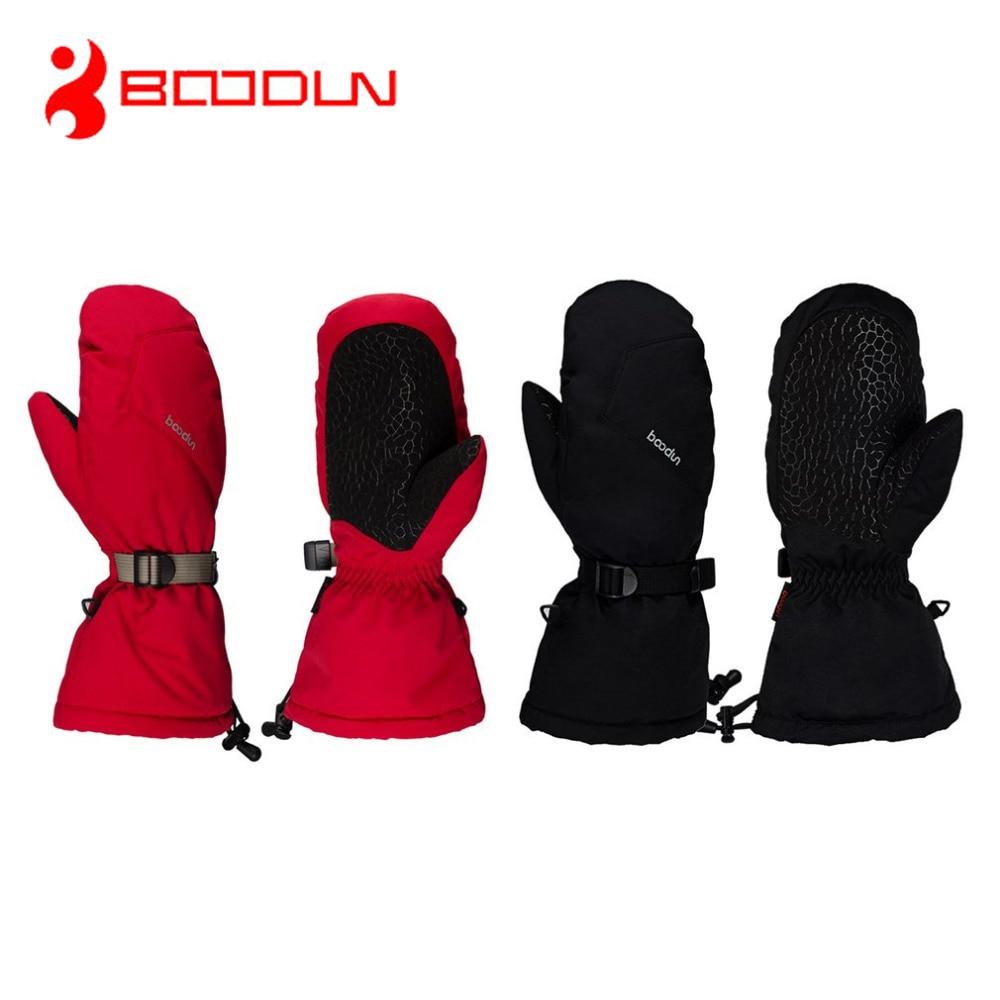 BOODUN Winter Skiing Gloves Waterproof Windproof wear-resistant Men Women Snow Skating Gloves Winter Thick Warm Gloves Mittens