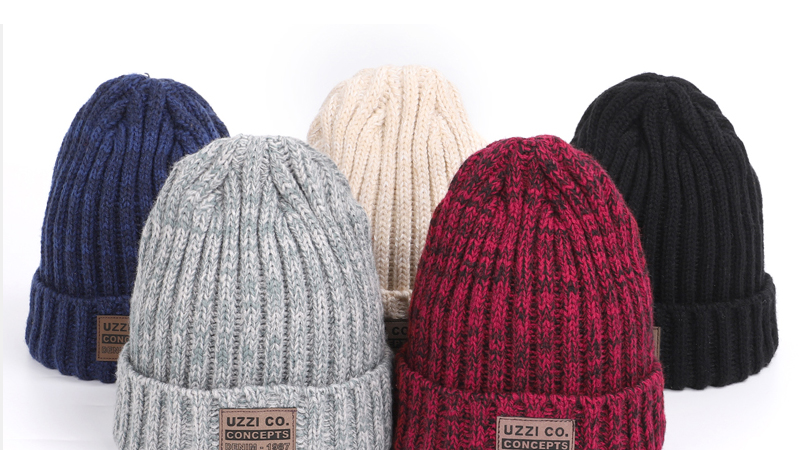 knitted cotton winter caps