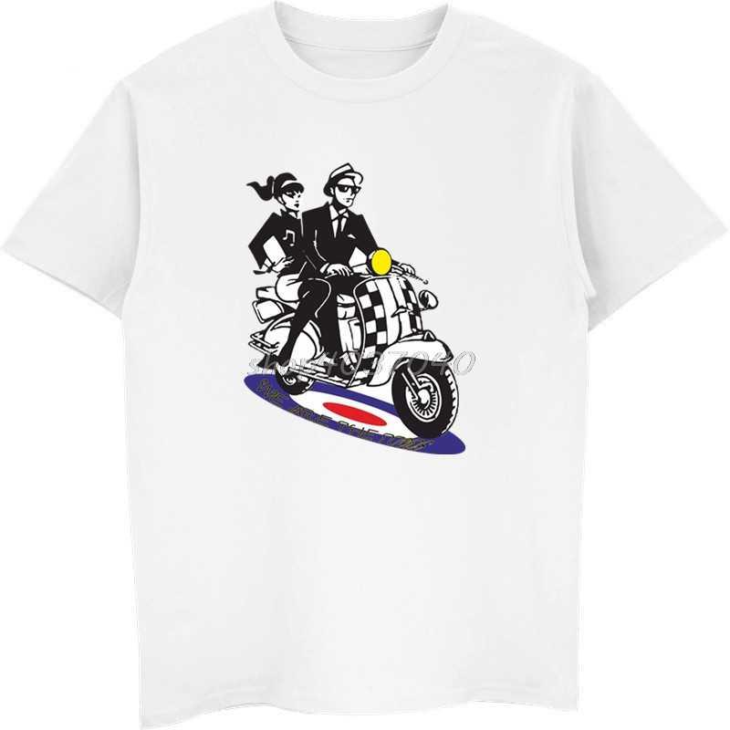 Mannen Grappige T-shirt Zomer Shirts Homme Retro Britse 1960 s Mods Ska Stijl Kleding Scooter Reggae T-shirt Hip Hop tees Top