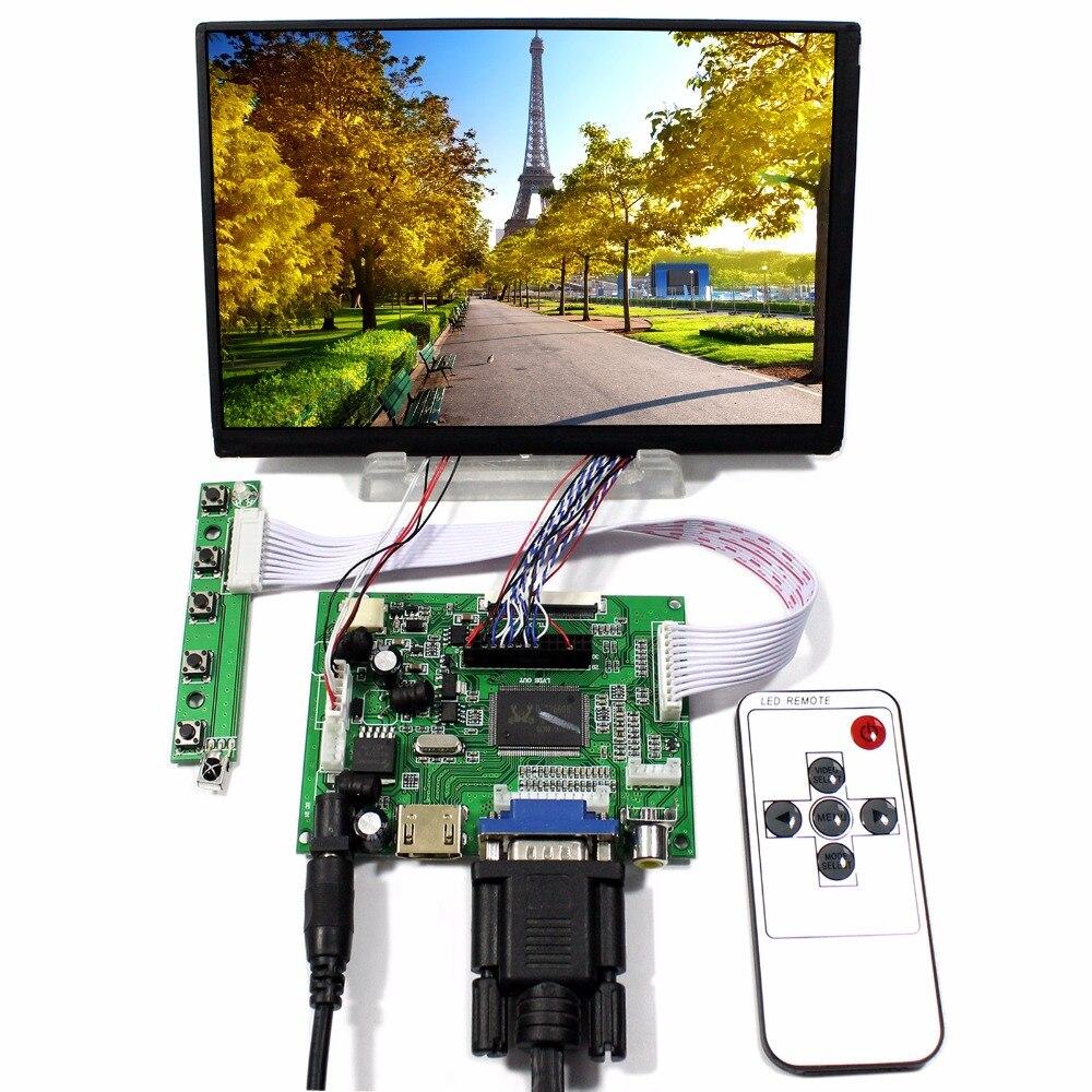 HDMI VGA 2AV Remote LCD Controller Board With 7inch N070ICG-LD1 1280x800 IPS LCD Screen tv hdmi vga av usb audio lcd control board with 7inch 1280x800 n070icg ld1 touch lcd