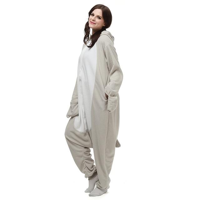 a462a4153 Popular adult unisex long sleeve sleepwear cosplay cartoon animal Seals  polar fleece onesies pajamas Super soft homewear