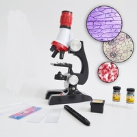 High Quality Children Toy Microscope 100X 400X 1200X Illuminated Monocular Biological Microscope