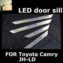 ДЛЯ Toyota Camry JH-LD 2006 2007 2008 2009 2010 2011 нержавеющая сталь накладка ПРИВЕЛО накладки на пороги автомобильные аксессуары Автомобиль укладки