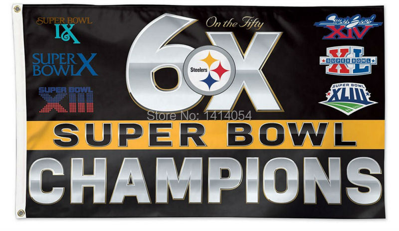Steelers XLV Super Bowl Champions Flag 150X90CM Banner 100D Polyester3x5 FT flag brass grommets 001, free shipping