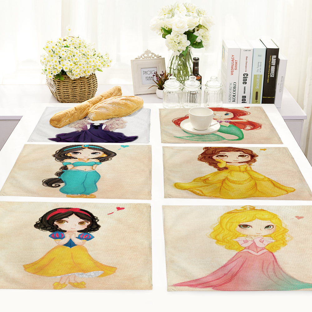 Beauty girl design Printed Table Napkins for Wedding Party Table Napkin Cloth Western Dinner Mat Home Textile MC0015