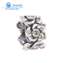 New hot rainbow crystal charms trending products 925 sterling silver jewelry GW fine YZ417