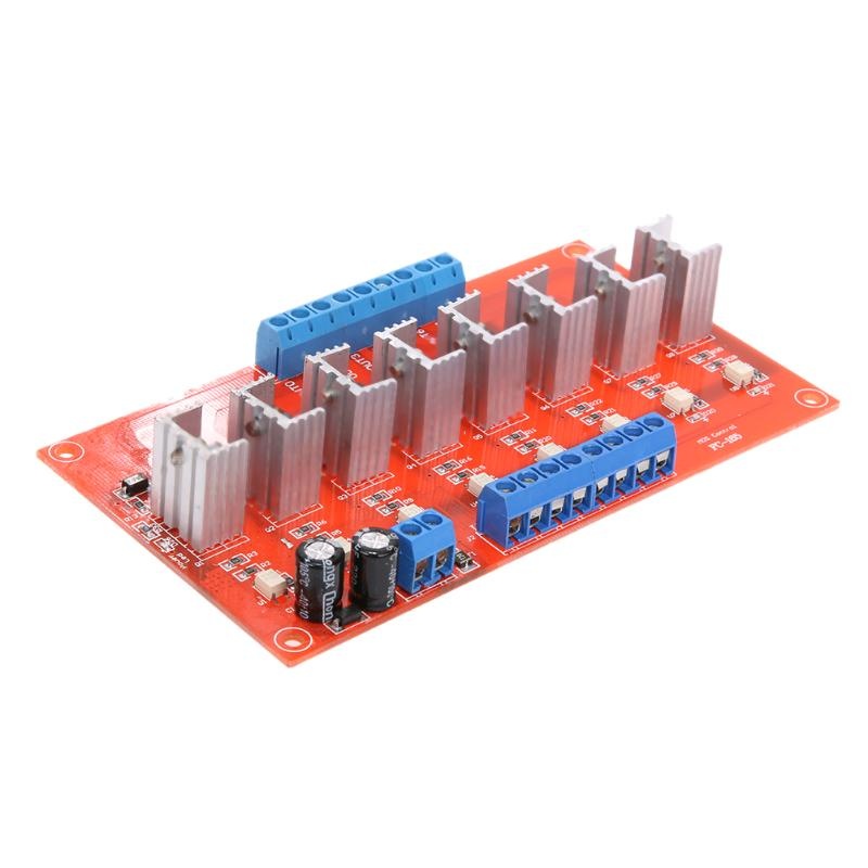 цена на 8 Channels PLC Extender Board IO Protective Optocoupler Relay Module Board With LED indicator light