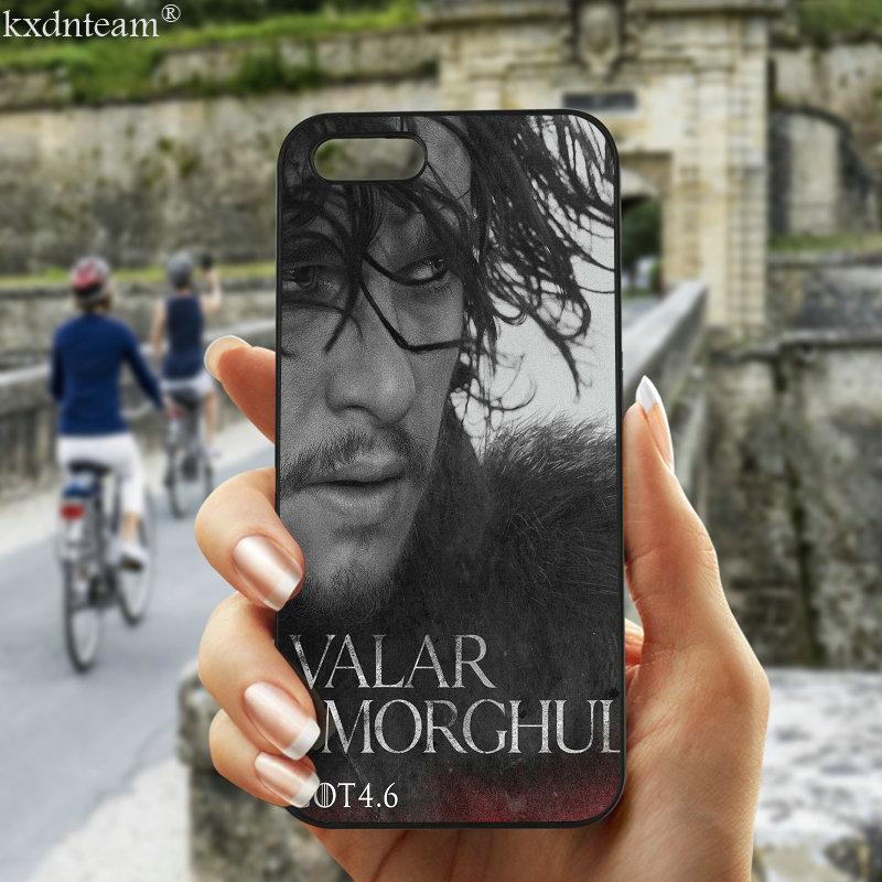 Valar Morghul Kit Harington Phone Cases Hard PC Plastic Cover for iphone 8 7 6 6S Plus X 5S 5C 5 SE 4 4S iPod Touch 5 6 Shell