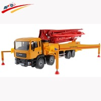 1 55 Concrete Pump Truck Diecast Car Model Car Collection Gift For Kids Toy