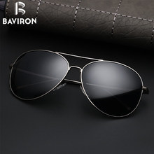 BAVIRON 2017 New Sun Glasses Men Tear Drop Polarized Sunglasses Mirror Round Metal Glasses Perfect Driving Eyewear Gafas 27021