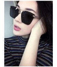The new 2017 han edition retro sunglasses dazzle colour reflective sunglasses joker square sunglasses