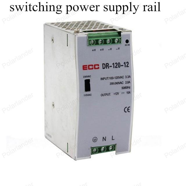 Fuente de alimentación conmutada AC/DC 12 V 120 W de salida dual de la fuente de alimentación de carril tamaño mini fuente de alimentación para luces led Iluminación Transformers