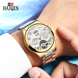 Image 2 - HAIQIN Mens watches Automatic mechanical Men Watches Business Watch men top brand luxury Military Waterproof Tourbillon Clock