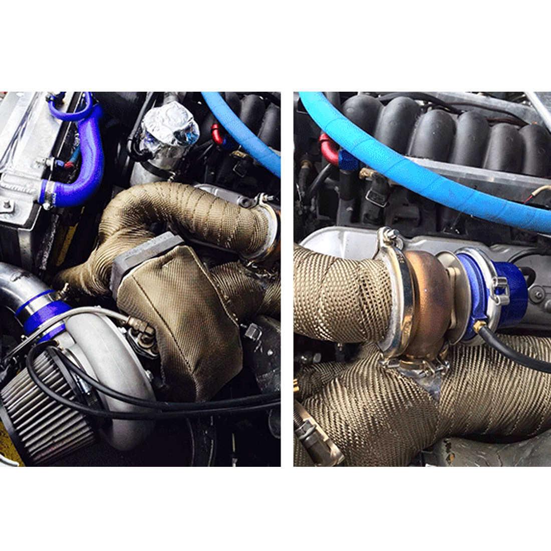 צינור פליטת כותרת עמיד Downpipe נירוסטה קשרי 10m x 5cm x 1.5mm עבור רכב אופנוע אבזרים & חלקים