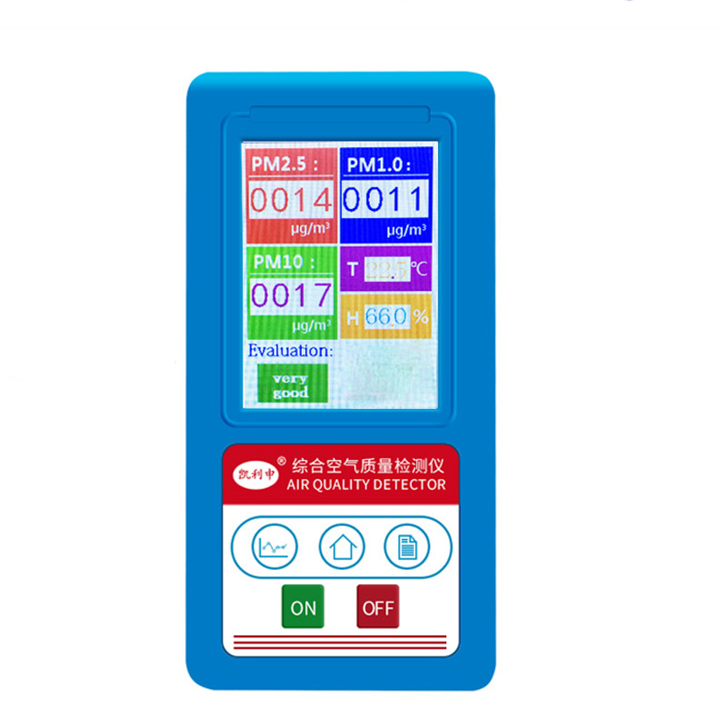BR-8A air quality tester PM2.5 Detector Particle Dust Air Quality Meter digital Air Analyzer whit Temperature humidity test tool a handful of dust 8