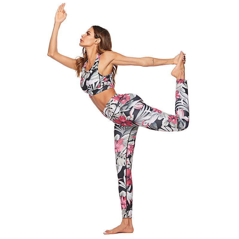 Digital Printing Sports activities Set Moisture Wicking Health Clothes Polyester Blended Mushy Cloth Gymnasium Yoga Coaching Operating Fits Yoga Pants, Low-cost Yoga Pants, Digital Printing Sports activities Set Moisture...