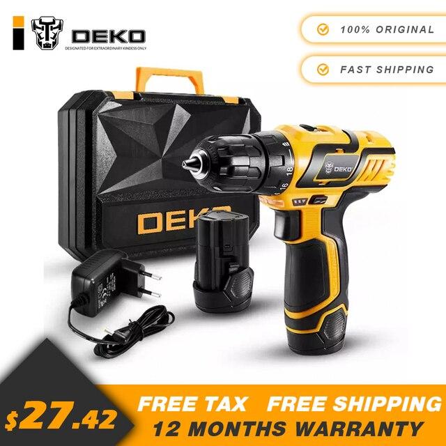 DEKO GCD10.8DU3 10.8 V ביתי DIY נגרות ליתיום יון אלחוטי כוח כלים מקדחה חשמלית מקדחה