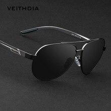 Мужские солнцезащитные очки VEITHDIA, из алюминиево-магниевого сплава с поляризационными стеклами, модель 2605