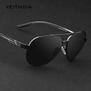 Image 1 - VEITHDIA אלומיניום מגנזיום Mens משקפי שמש מקוטב עדשת משקפיים שמש לגברים משקפי אביזרי oculos דה סול masculino 2605