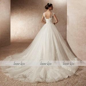 Image 3 - Lover Kiss Real Photo Ballชุดแต่งงานชุดเดรสสำหรับผู้หญิงหมวกเจ้าหญิงลูกไม้ชุดเจ้าสาวVestido De Noiva Robes mariage