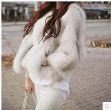 Fast Shipping Women O-Neck Short Section Casual Fur Jackets Female Large Size Fashion Coats S/3Xl Faux Coat Jacket