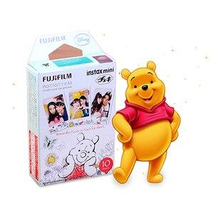 Image 1 - Genuine Fuji Fujifilm Instax Mini Filme Winnie Pooh 10 Folhas Para 9 9 8 7s 90 25 dw 50i 50s Partes SP 1 SP 2 Liplay Câmera Instantânea