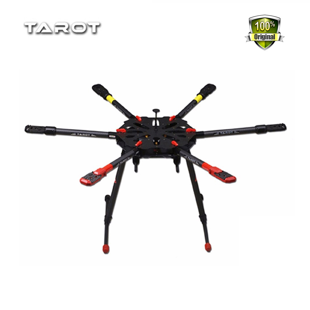 Weyland Tarot X6 Pure Carbon 960mm Hexacopter with Retracts 6-Axis PCB Center Plate Folding Frame Kit FPV RC Drone TL6X001 tarot drone x6 all carbon hexa kit with retractable landing skid tl6x001