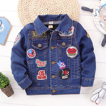 boys clothing Jeans coats 2016 autumn winter New Chaqueta cartoon fashion kids jackets baby boy outerwear children Casaco Ganga