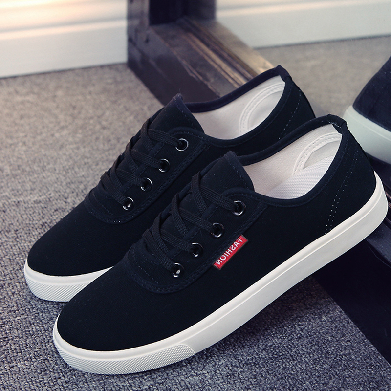 New 2018 Spring Summer Casual Shoes Women Canvas Trainers Shoes Flats Breathable White Black Female Student Flat With Shoes fashion womens casual shoes 2017 spring summer breathable women canvas shoes brand soft thick sole classic black white th085