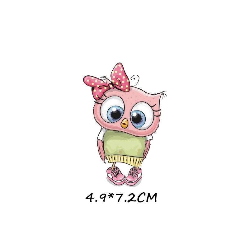 Милые маленькие животные Единорог Сова собака кошка патч для одежды стикер для детей мальчик девочка DIY патчи Футболка теплопередача Винил - Цвет: zt1099