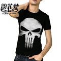2016 THE PUNISHER Skull T Shirt The Punisher Black longt Sleeve T-shirt Men Clothing Top Tees For Summer