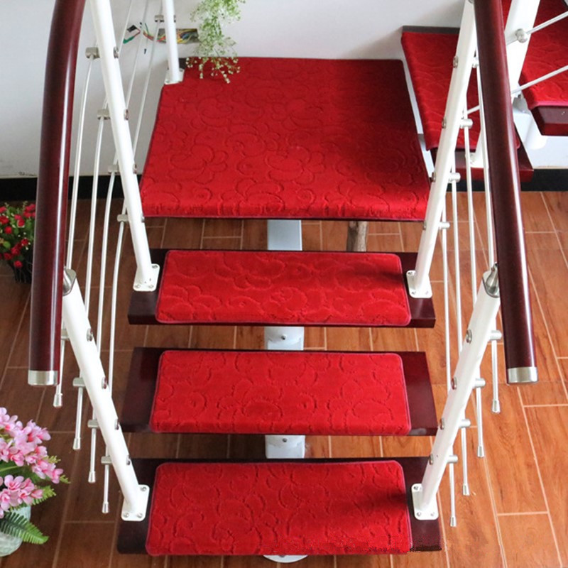 Non Slip Resistance Stair Stepping Pad Glue Free Stairway Carpets Floor  Mats Wood Stair Protective Rugs Bathroom Footcloth In Carpet From Home U0026  Garden On ...