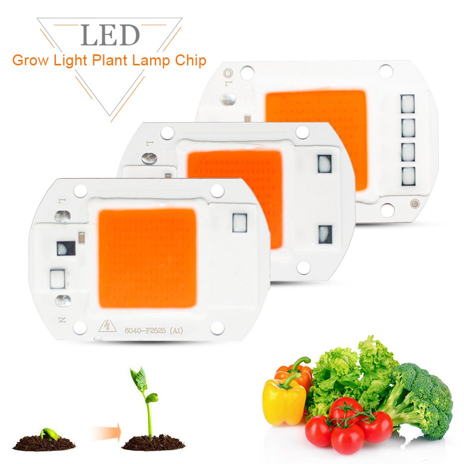 Growing <font><b>Lamps</b></font> <font><b>Plant</b></font> Grow Light <font><b>Led</b></font> Chip 220V 110V 50W 30W 20W Phyto <font><b>Lamp</b></font> Full Spectrum 380nm-780nm <font><b>Led</b></font> Grow Light Cob