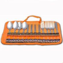 Stainless Steel Portable Cutlery Set Dessert Tableware Coffee Fork in Dinnerware Setss Spoon Knife