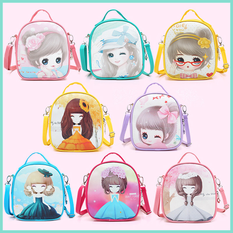 194cec81673f Cartoon Kids Girls Shoulder Bag Children PU Leather Mini Crossbody Baby Girl  Schoolbag Book Bag Messenger Bag For Kindergarten-in Top-Handle Bags from  ...