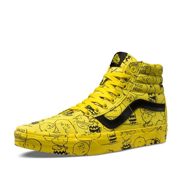 6c916a7da5 Vans SK8-HI Classic Unisex High-top Sneakers PEANUTS Snoopy Cartoon  Athletic Shoes Mens Womens Skateboarding Shoes36-46