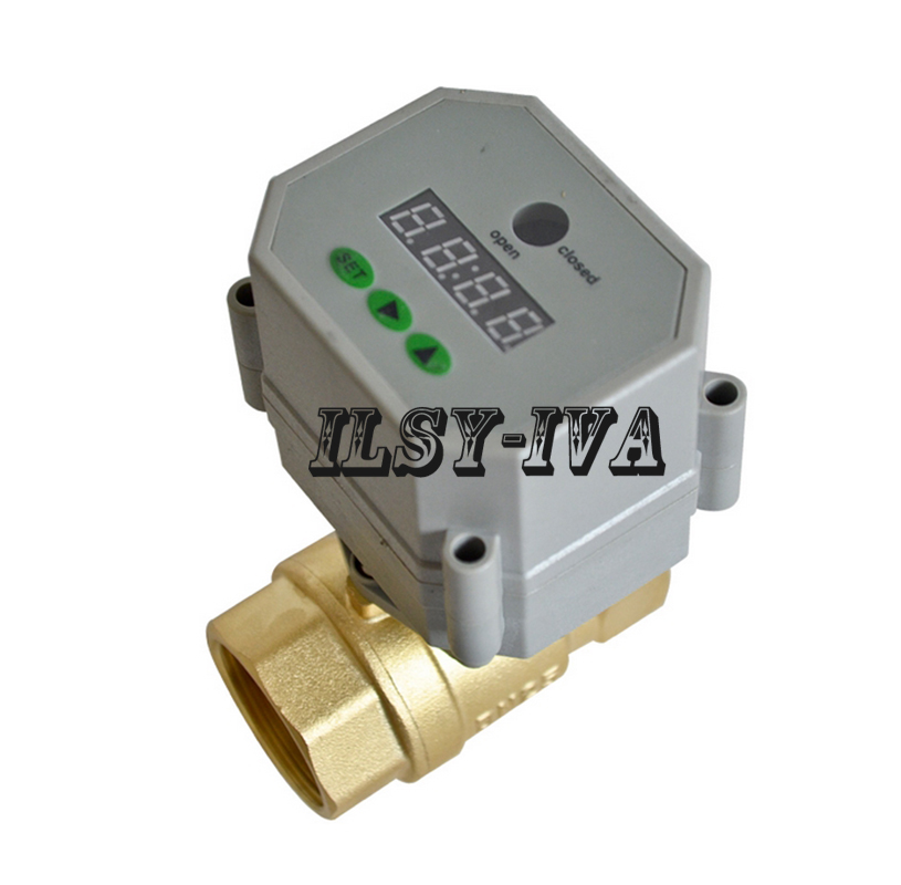DN15,DN20,DN25,DN32 Timer Controlled Motorized Ball Valve,2 Way Brass AC/DC 9~24V Timer Controlled  Valve