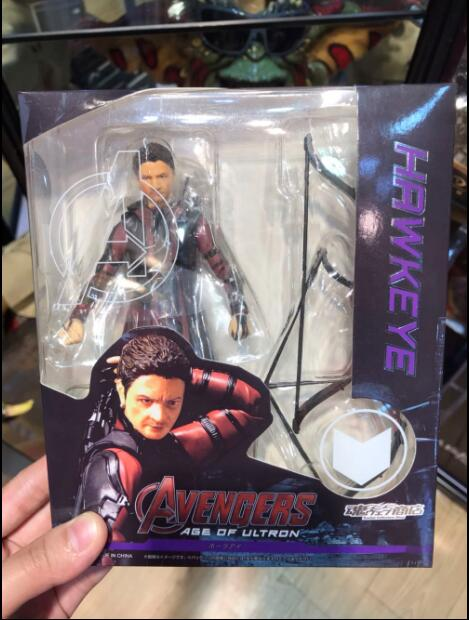 Movie Marvel the Avengers 2 Hawkeye SHF Figuarts PVC Action Figure Collectible Model doll Toy child kids gift image