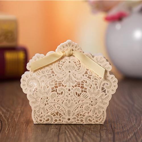 50X Laser Cut Favor Box Red Wedding Candy Box 2015 Luxury Baby Shower Chocolate Paper Gift Box Bomboniere Boite A Dragee Bapteme