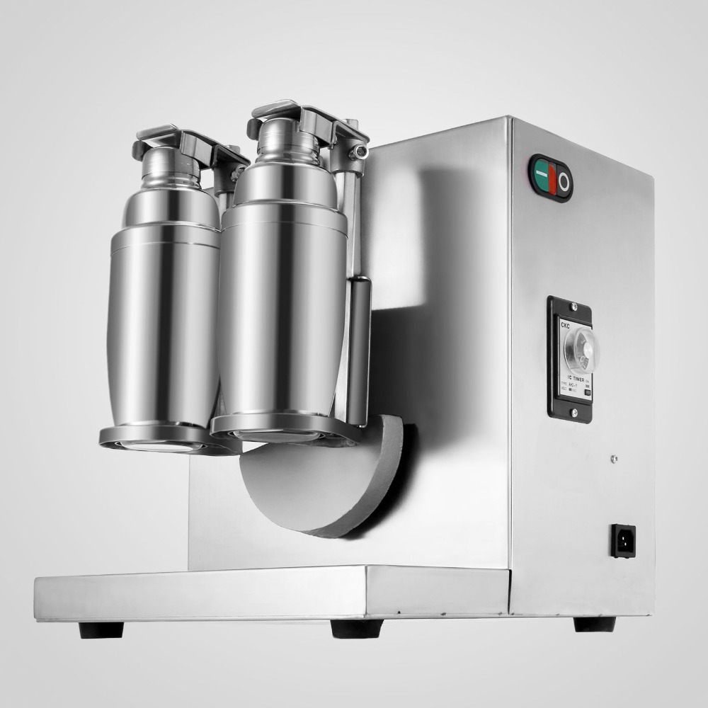 Электрический Автоматический Двойной каркас молочный чай тряска машина из нержавеющей стали пузырь Boba шейкер