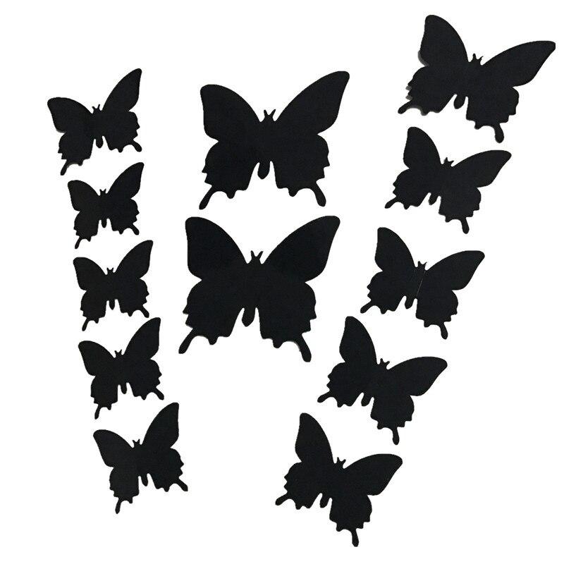 12 Unids/lote Nuevo 3D de La Mariposa/de La Flor/del Palo Decoración de La Boda/