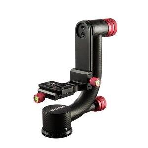 Image 2 - Viltrox VH 20 Pro Heavy Duty Carbon Fiber Gimbal Statiefkop Stabilisator Quick Release Plaat voor Telelens fotografie vogel