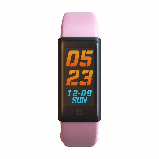 Ogeda نساء الساعات الذكية شاشة tft ملونة القلب معدل ضغط الدم spo2 البدنية تعقب الذكية معصمه النساء 2018 ساعة